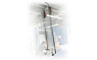 Sicurezza dell'operatore: bracci di reazione telescopici per utensili sospesi